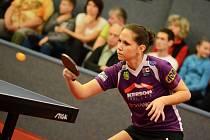 POSLEDNÍ EXTRALIGOVÝ ZÁPAS v barvách SK Dobré sehrála ve druhém čtvrtfinále play off s Frýdlantem nad Ostravicí stolní tenistka Ivana Pelcmanová (na snímku).