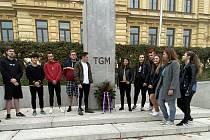 Studenti zavzpomínali na vznik Československa.