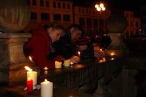 Vzpomínání na listopadovou revoluci v Dobrušce.
