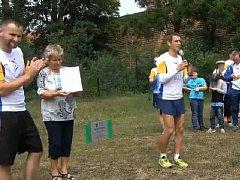 Do běhu kromě dětí zapojil i starosta Borohrádku Martin Moravec.