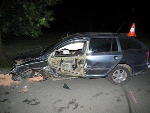 Hrozivě vypadající nehoda se naštěstí obešla bez vážnějšího zranění.