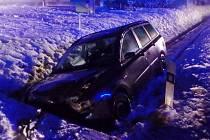 Havárie osobního automobilu v Domašíně.