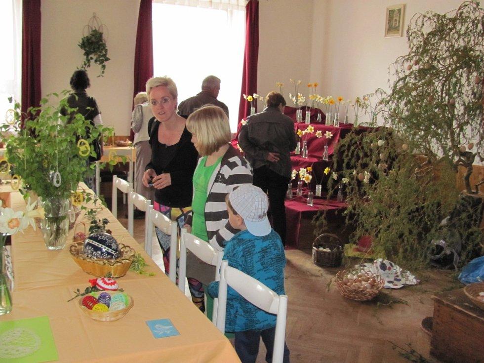 Nechyběla ani velikonoční výstava na obecním úřadě.