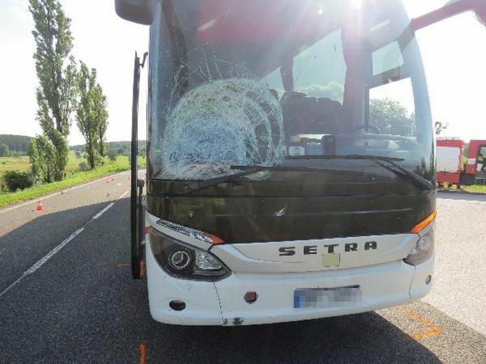 Z nehody mezi Výšinkou a Stříteží na Trutnovsku. Zdroj: Policie ČR