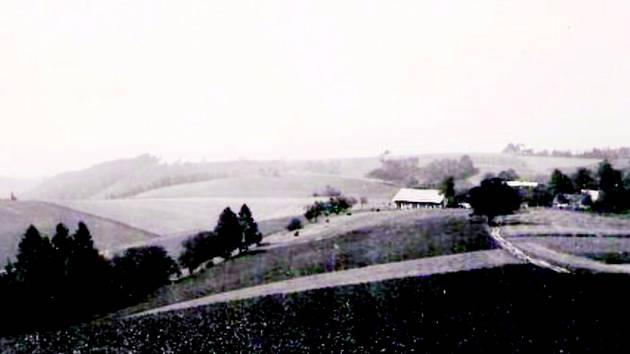 Pohlednice zachycuje obec v dobách minulého století. Tehdy víska měla jen několik málo domů.