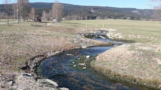 Potok Zelenka - stav po dokončení.