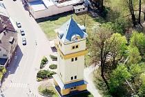 Vodárenská věž v Týništi nad Orlicí.