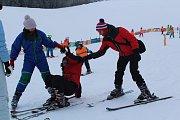 Poprvé na sněhu a na lyžovačce.