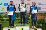 STUPNĚ VÍTĚZŮ. Na mistrovství České republiky v orientačním běhu vybojovala zlatou medaili ve sprintu Denisa Kosová z Rychnova nad Kněžnou