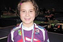 Vendula Šichanová potřetí triumfovala na republikovém bodovacím turnaji nejmladších žákyň.