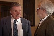 Zdeněk Sternberg a František Kinský v pořadu Modrá krev. Zdroj: Česká televize