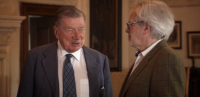 Zdeněk Sternberg a František Kinský v pořadu Modrá krev.