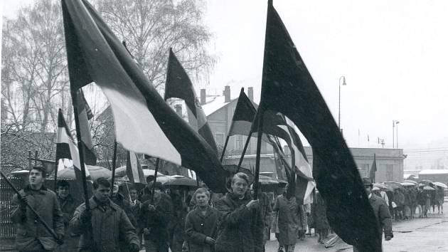 1. máj v Týništi nad Orlicí 1970.