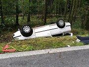 Tragická nehoda u Rybné nad Zdobnicí, při které zemřela jednadvacetiletá dívka.