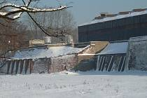 Pohled na továrnu, kde vězni pracovali (tedy i Karel Poláček)