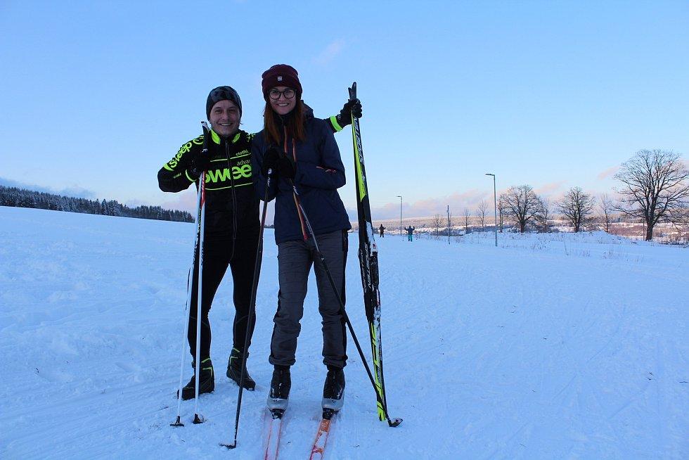 Ze Ski arény v Orlickém Záhoří.