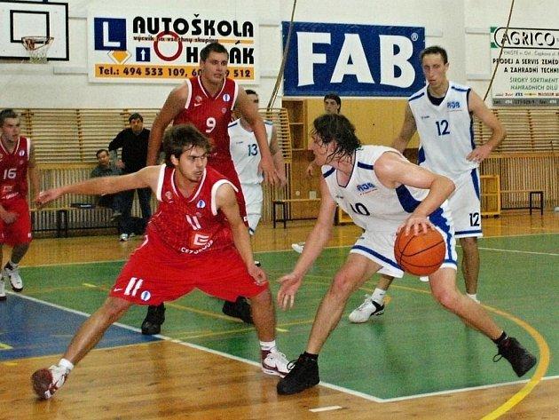 Z druholigového utkání basketbalistů Rychnov a Nymburka B (86:81).