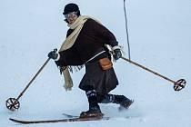 MČR v historickém lyžování v Olešnici v Orlických horách.