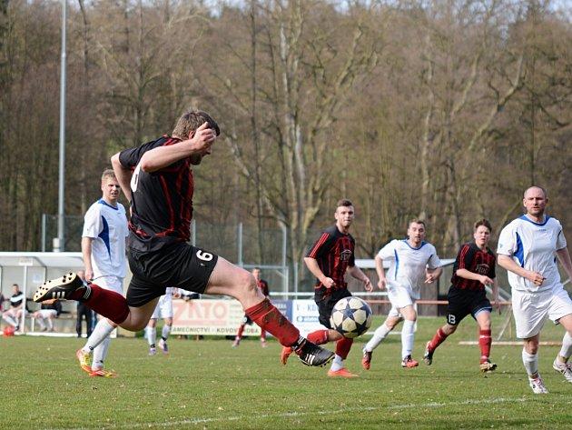 Černíkovice zdolaly Opočno až v penaltovém rozstřelu, když v normální hrací době utkání skončilo 1:1