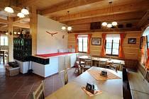 Restaurace a penzion Kozí chlívek.
