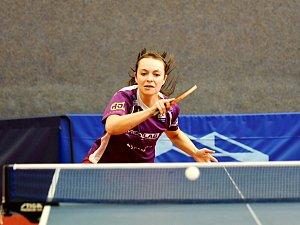 Doberská Dagmar Blašková (na snímku) vyhrála v derby všechny své zápasy a výrazně přispěla k remíze.