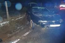 Dopravní nehoda ve Zdelově 25. ledna 2018