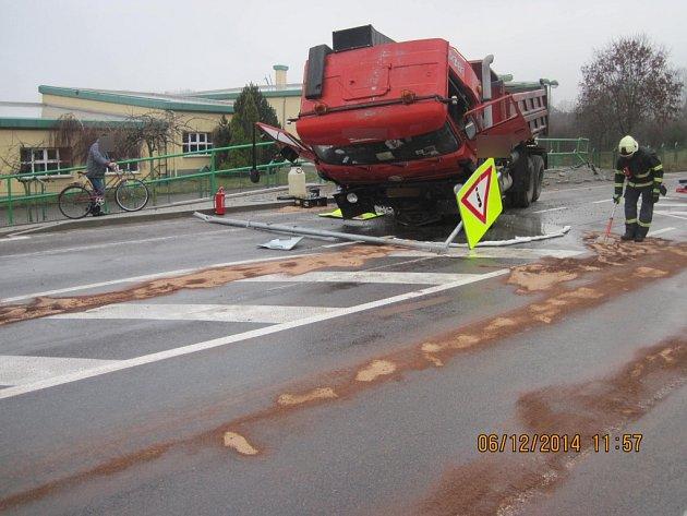 Dopravní nehoda v Křovicích