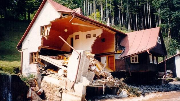 Povodeň na Rychnovsku v roce 1998.