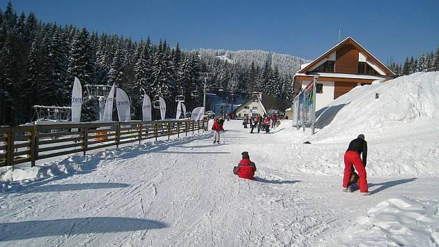 Říčky v Orlických horách - středisko zimních sportů.