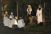 Živým betlémem se mohli pyšnit v Domašíně