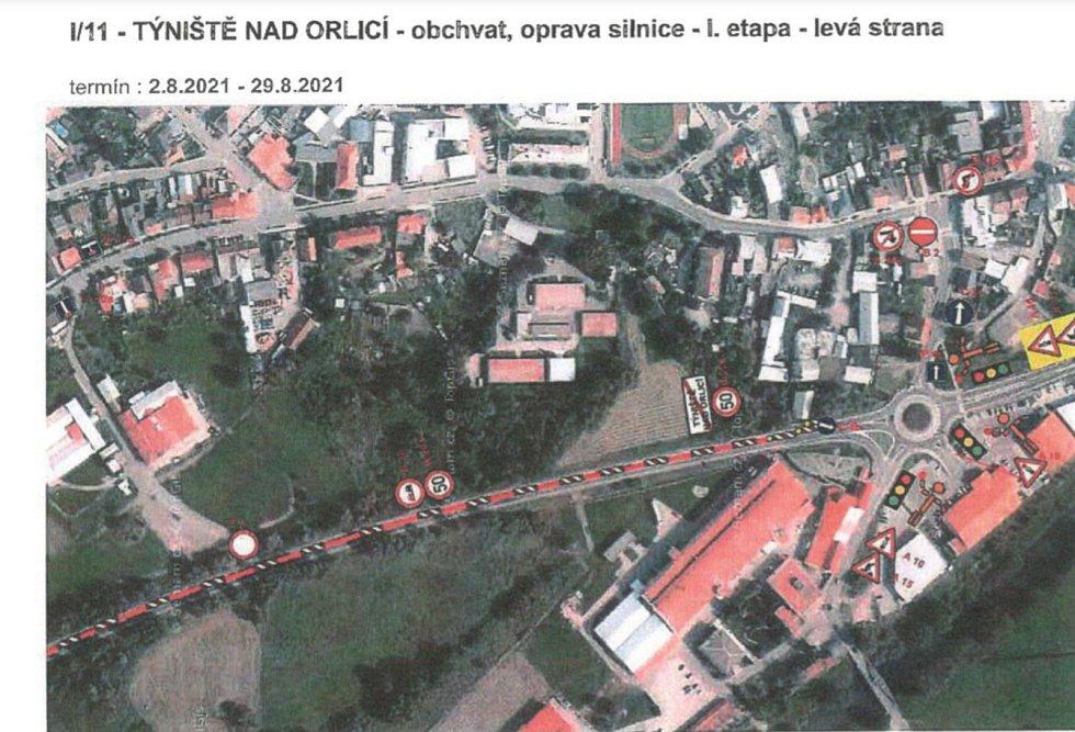 Další zkouška nervů čeká řidiče na hlavním tahu z Hradce na Vamberk u Týniště