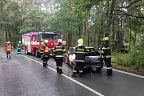 Z nehody u Borohrádku. Foto: HZS KHK