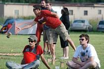 Netradiční hra kubb v Dobrušce