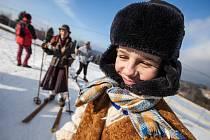 Mistrovství České republiky v historickém lyžování se vydařilo. Soutěžilo více než 100 závodníků.