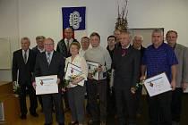 Galerie členů ČSTV, kteří převzali ocenění za svou dlouholetou dobrovolnou činnost v tělovýchově a sportu