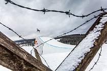 Freeski závod Soldiers - FIS v Big air v Deštném v Orlických horách.