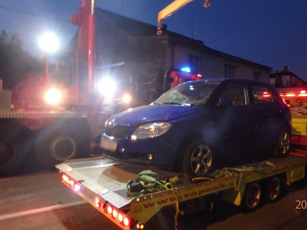 Havárie osobního automobilu v Častolovicích.