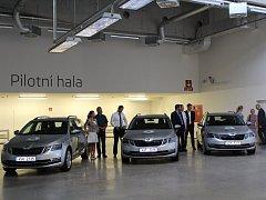 Nové vozy Škoda Octavia Combi.