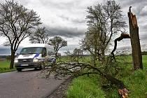 Rychnovsko zasáhl v noci z pondělí na úterý silný vítr, který lámal stromy.