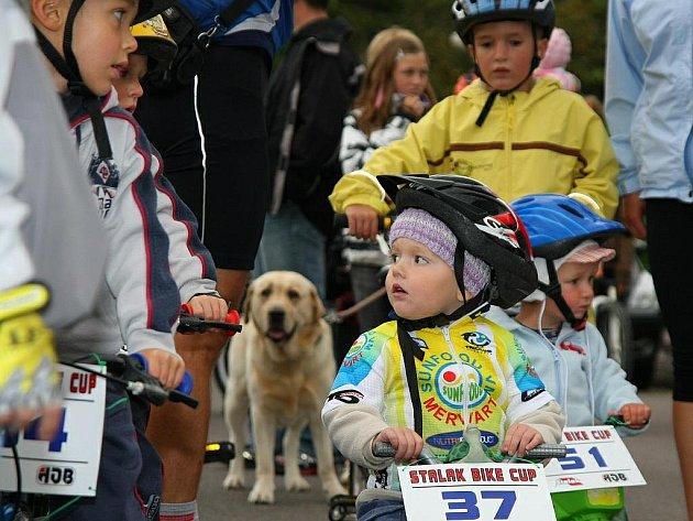 Třetí ročník závodu dětí v jízdě na horských kolech Malý Stalak Bike Cup.