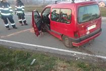 Havárie dodávky u Lupenice.