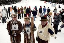 Mistrovství ČR na historických lyžích v Olešnici v Orlických horách
