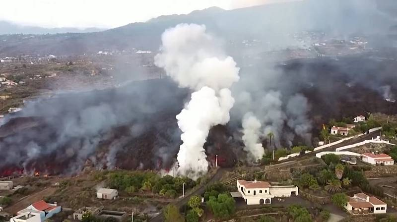 Záběry z dronu.