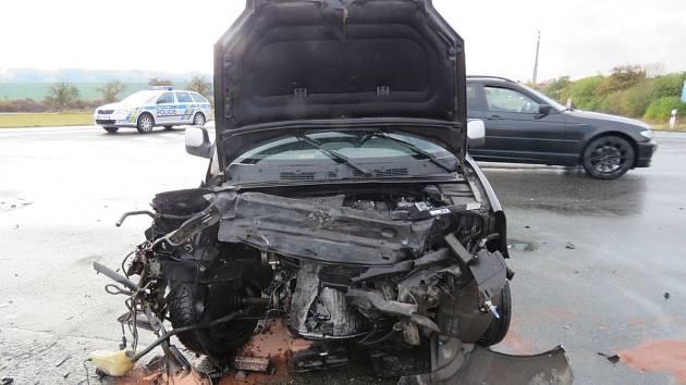 Dopravní nehoda v Dobrušce.
