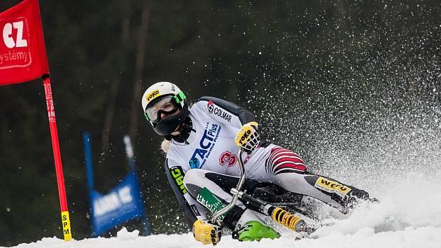 I Rakušanka Claudia Hartlová se o víkendu radovala ze zisku zlaté medaile (na snímku na trati superobřího slalomu).