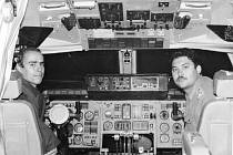 HISTORICKY PRVNÍ PŘISTÁNÍ ANTONOVA AN-225 na ostravském letišti v Mošnově v září 1989. Mrija se tehdy představila na leteckém dni.