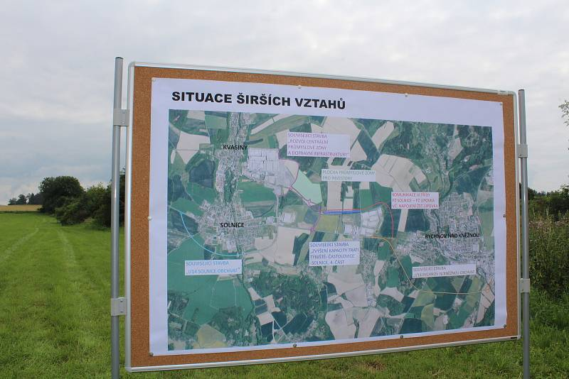 Z prezentace chystané průmyslové zóny Solnice-Kvasiny - jih
