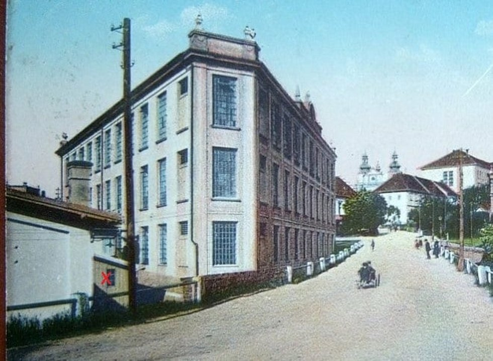 Historická pohlednice z Vamberka.