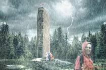 Proudy deště byly transformovány do tenkých tyčových prvků konstrukce rozhledny. Pro pětiboký půdorys chystané rozhledny na Velké Deštné byl architektům inspirací tvar vrcholových vrstevnic nejvyššího vrcholu Orlických hor.