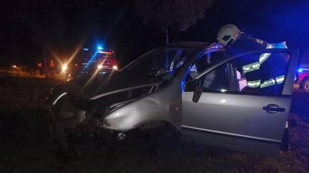 Při nehodě v Domašíně se zranila jedna osoba.